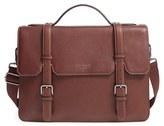 Ted Baker Men's 'Flame' Pebbled Leather Messenger Bag - Brown