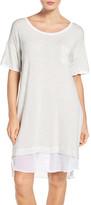 DKNY Jersey & Chiffon Sleepshirt