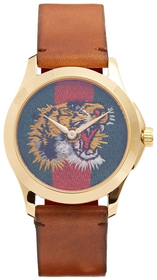 Gucci Le Marché des Merveilles leather watch