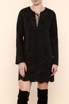 Astr Mae Faux Suede Dress