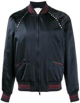 Valentino Rockstud bomber jacket - men - Cotton/Polyamide/Polyester/Viscose - 48
