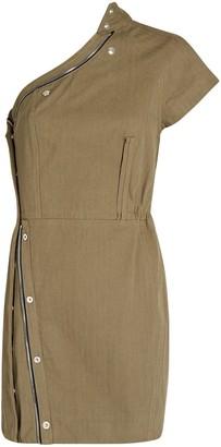 RtA Sivan One-Shoulder Mini Dress