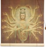 "Oriental Furniture Thousand-Arm Kwan Yin Bamboo Blinds - 24"" x 72"""