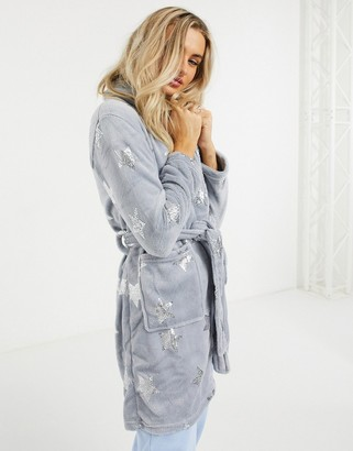 Brave Soul star print dressing gown