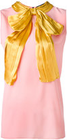 Gucci pussy bow sleeveless blouse - women - Silk - 40