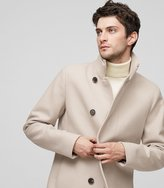 Reiss Curraghmore - Funnel Collar Jacket in Brown, Mens