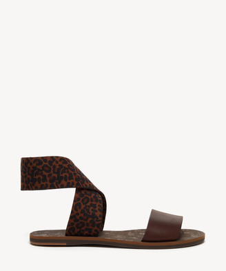 Kelsi Dagger Brooklyn Women's Pacific Wide Strap Flat Sandals Leopard Multi Size 6 Fabric From Sole Society