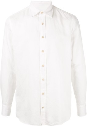 Lardini regular fit curved hem shirt