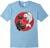 Yin Yang T-Shirt, Koi Fish Carp Tai Chi Symbol Japanese Tee