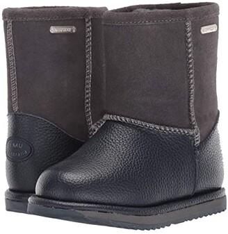 Emu Waterproof Trigg (Toddler/Little Kid/Big Kid) (Charcoal) Kids Shoes