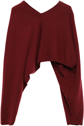 Victoria Beckham Cropped Cashmere-blend Sweater