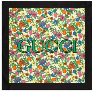 Gucci Pop Flora-Print Scarf