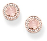 Thomas Sabo Light of Luna 18ct Rose Gold Plated Rose Quartz Earrings H1858-417-9