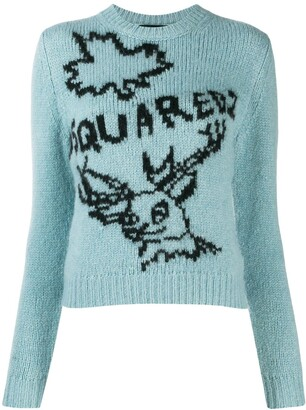DSQUARED2 logo knit sweater