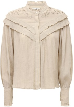 Etoile Isabel Marant Izae Lace Cotton & Viscose Shirt