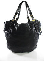 Kooba Black Leather Expandable Hobo Shoulder Handbag Size Extra Large
