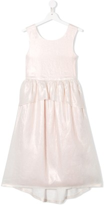 Bonpoint TEEN Nice peplum-waist dress