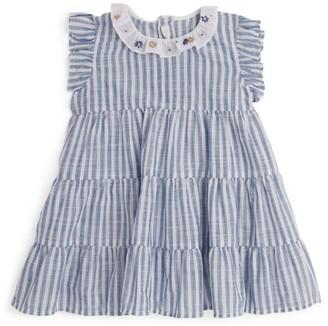 Il Gufo Cotton Stripe Print Dress (3 Months-4 Years)