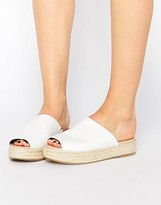 London Rebel Slide Espadrille Flat Sandals