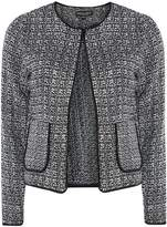 Dorothy Perkins Black and White Boucle Fringe Jacket
