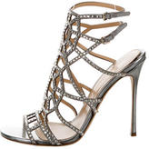 Sergio Rossi Crystal Embellished Cage Sandals