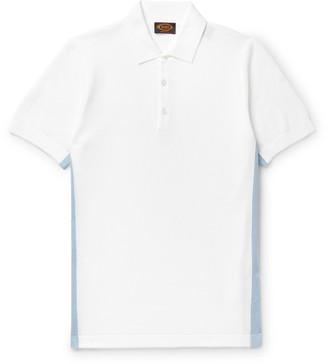 Tod's Striped Cotton-Pique Polo Shirt