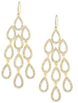 ABS by Allen Schwartz Earrings, Gold-Tone Pave Crystal Large Chandelier Earrings