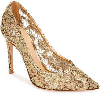 Gianvito Rossi Floral Lace High Pumps