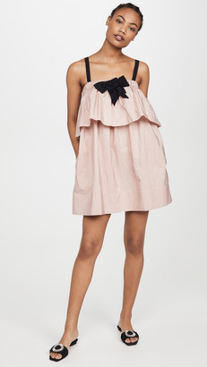 No.21 Layered Mini Dress with Bow