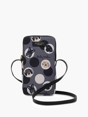 Radley & Friends Dog Trust Cross Body Phone Pouch, Charcoal