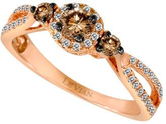 LeVian Le Vian Chocolatier 14K Rose Gold 0.48 Ct. Tw. Diamond Ring