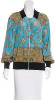 Marchesa Voyage Silk Printed Jacket w/ Tags