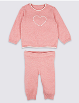 Marks and Spencer 2 Piece Knitted Top & Bottom Outfit