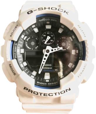 Casio White Steel Watches