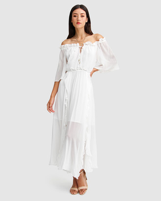 Belle & Bloom Women's White Maxi dresses - Amour Amour Ruffled Midi Dress - Size One Size, XS at The Iconic