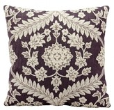 "Nourison Dynasty Throw Pillow Ivory & Plum (18""x18"") - Mina Victory"