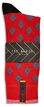 Ted Baker Mxs Bridling Geometric Socks