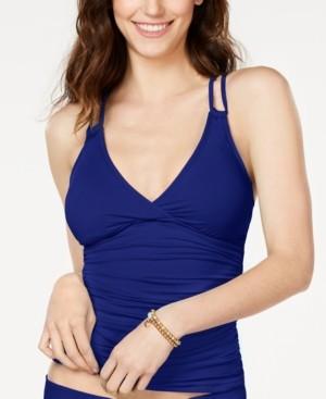 La Blanca Strappy-Back Underwire Tankini Top Women's Swimsuit