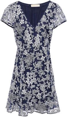 MICHAEL Michael Kors Flared Embroidered Tulle Mini Dress