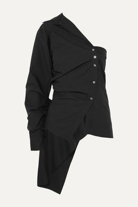 Marques Almeida One-sleeve Draped Cotton-poplin Shirt