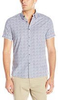 Kenneth Cole Reaction Men's Ss Bdc Palm Print