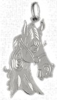 Cleversilver Clevereve's 14K White Gold Pendant Horse Head 1.4 - Gram(S)