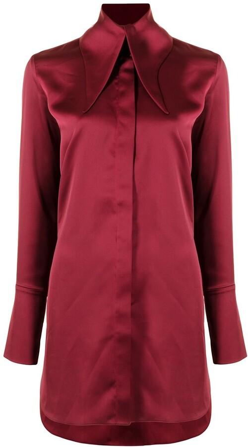 16Arlington Oversized-Collar Shirt Dress