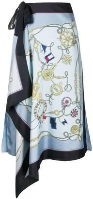 Tommy Hilfiger Nautical Print Scarf Skirt