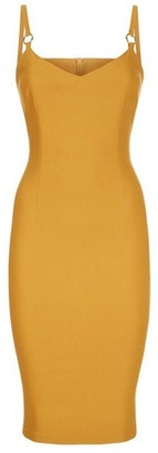Dorothy Perkins Womens Vesper Yellow Pencil Dress, Yellow