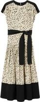 Proenza Schouler Short-Sleeved Leopard Print Dress