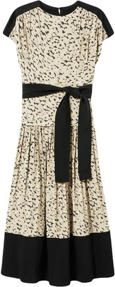 Proenza Schouler Short-Sleeved Leopard Print Dress