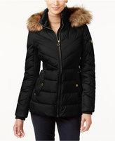 MICHAEL Michael Kors Faux-Fur-Trim Hooded Puffer Coat