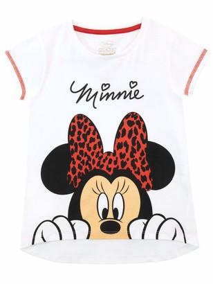 Disney Girls Minnie Mouse T-Shirt White 7-8 Years