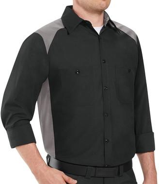 Men's Red Kap Classic-Fit Colorblock Button-Down Shirt